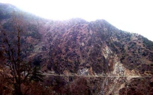 View of Naigarh Nala Rock Quarry at Kwar Dam site