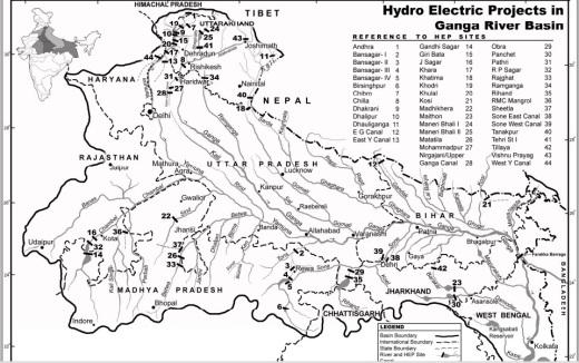 Ganga Basin Map of SANDRP