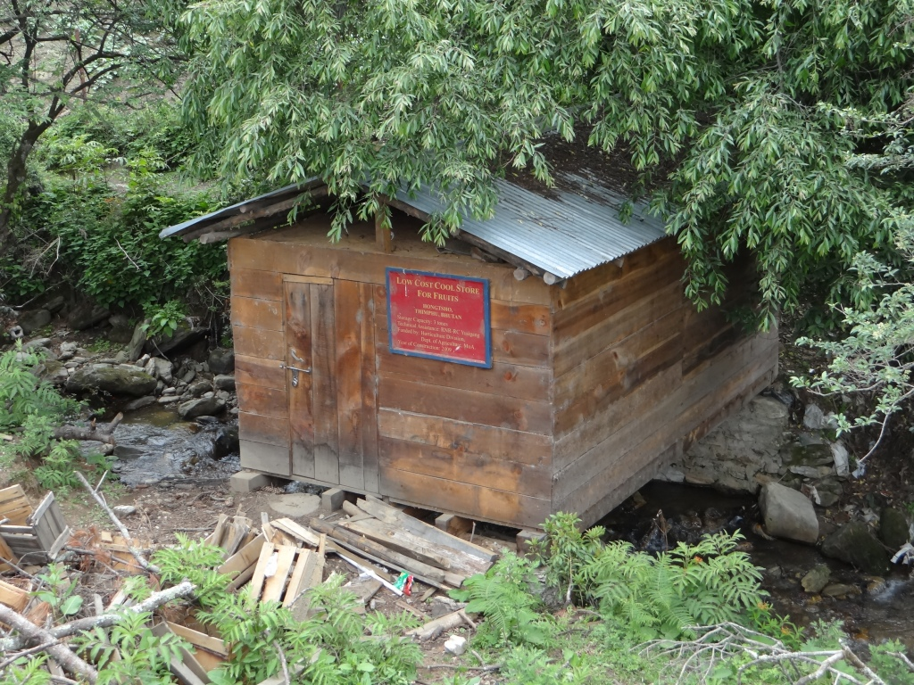Different ways of using the flow: A storehouse for Apples and other seasonal fruits, built on the top of a stream, which acts like a natural AC Photo: SANDRP
