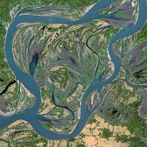 Satellite image of Brahmaputra River From: Wikimedia Commons