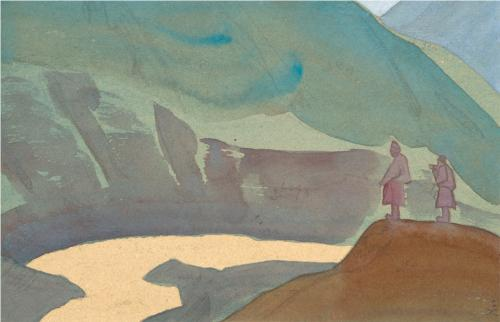 Chandra Basin in Himachal Pradesh depicted by Nicholas Roerich in 1932. The same Chenab Basin now witnesses one of the highest dam densities in Himalayas. From: WikiArt