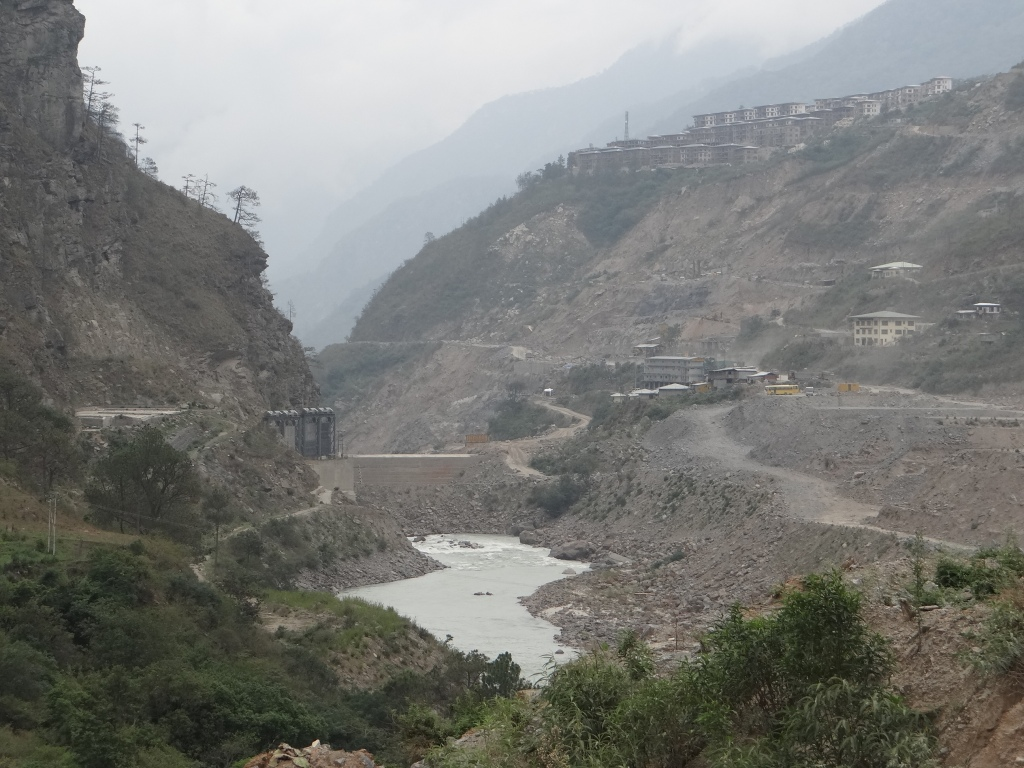 Coffer dam and diversion of PSHP I Project Photo: SANRP