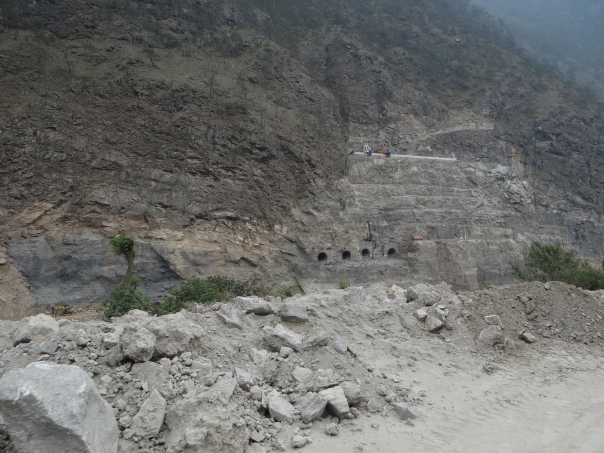 Dam Axis of PSHP I Photo: SANDRP