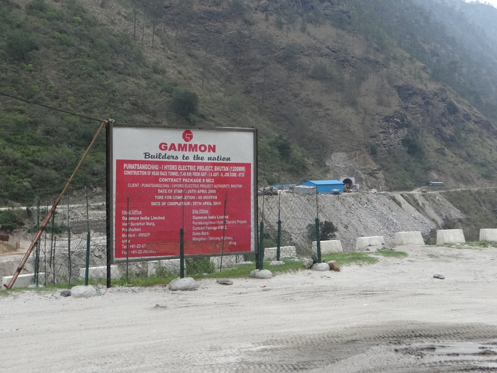 Gammon India is contractor for 7.48 kms Head Race Tunnel. Bharat Heavy Electricals and HCC are also contractors in PSHP I Photo: SANDRP