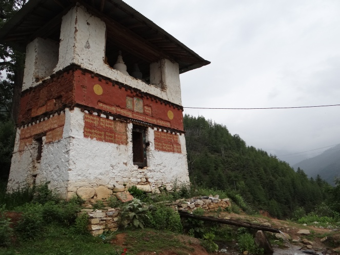 A water prayer wheel in a village near Paro Photo: SANDRP