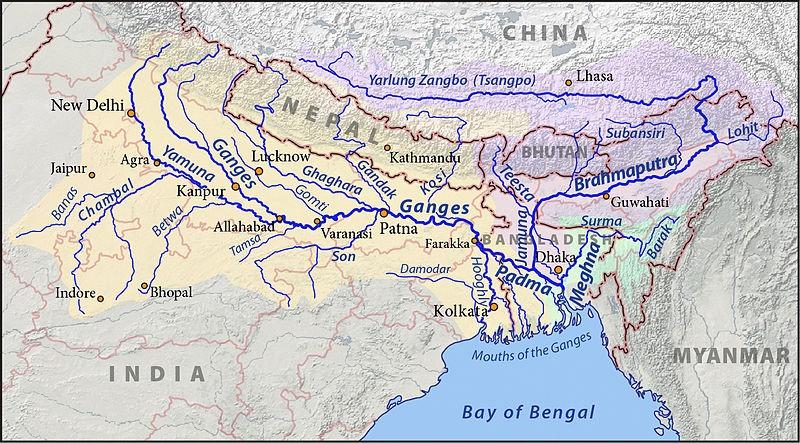 The Ganga Brahmaputra Basin Photo from: Wikimedia Commons