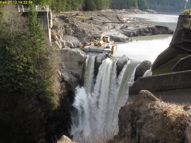 Decommissioning of the Glines canyon Dam on the Elwha River From USGS.gov