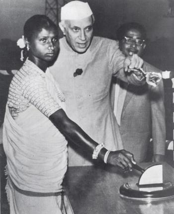 Santhal TRibal Lady budhni-inaugurating-the-power-station-at-the-panchet-dam-in-december-1959-photo-nehru-memorial-museum-and-library-new-delhi.jpg Photo from: The Hindu