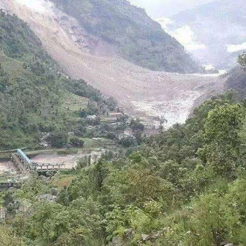 A view of the dam and the river, photo courtesy Setopati.com