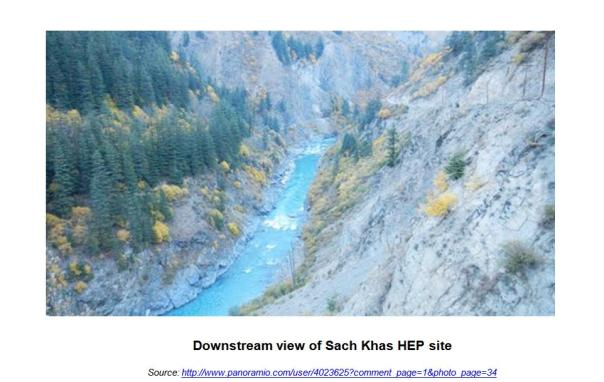 Downstream view of Sach Khas