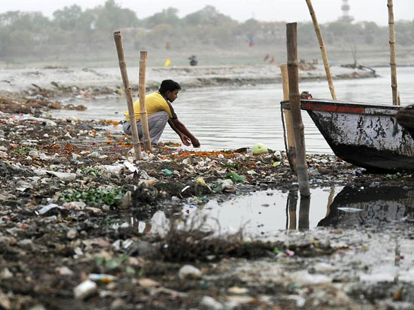 Polluted Ganga at Allahabad Photo: National Geographic