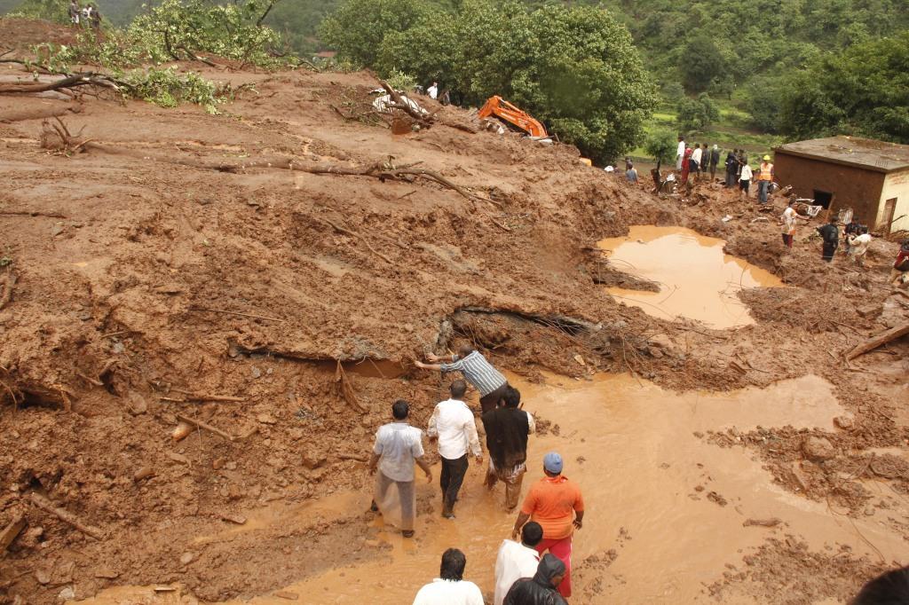 Destruction at Malin Photo by Atul Kumar Kale Local activist