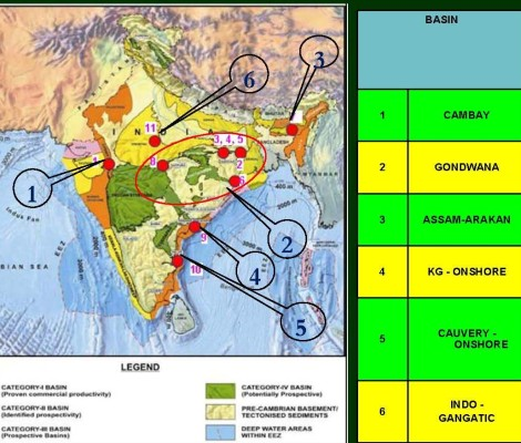Shale Reserves in India From Shripad Dharmadhikary's piece : 'Shallow understanding of deep risks'