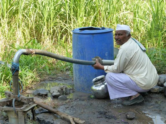 Use of GRoundwater for Sugarcane. Photo: P.Sainath, from Drilling Holes in the Thirst Economy', The Hindu