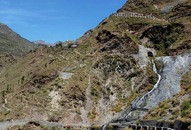 In April 2012 there was a massive leakage in the 16km HRT of the 231 MW, Chamera III project just above the Mokhar village in Chamba district leading to severe threat to the village downhill so much so that the 40 families residing there had to be evacuated. This picture is of the Adit 6 of the tunnel. The leakage occurred during testing of the generating units.