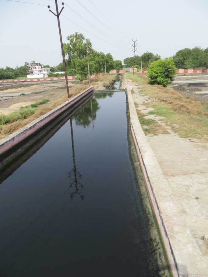 Canal taking treated effluent back to the river