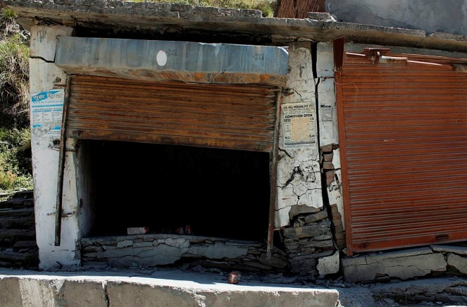 Damages caused by the leakage in the HRT to houses in Mokhar village