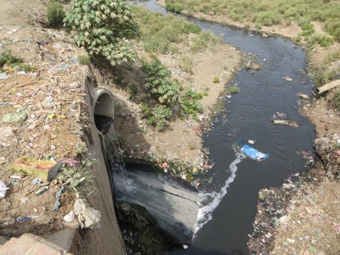 A drain in the trans Varuna region.
