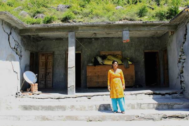 Lilo Devi's house was located just above the HRT of the Chanju project. 12 houses were completely damaged by the tunnel construction in this village in December 2013