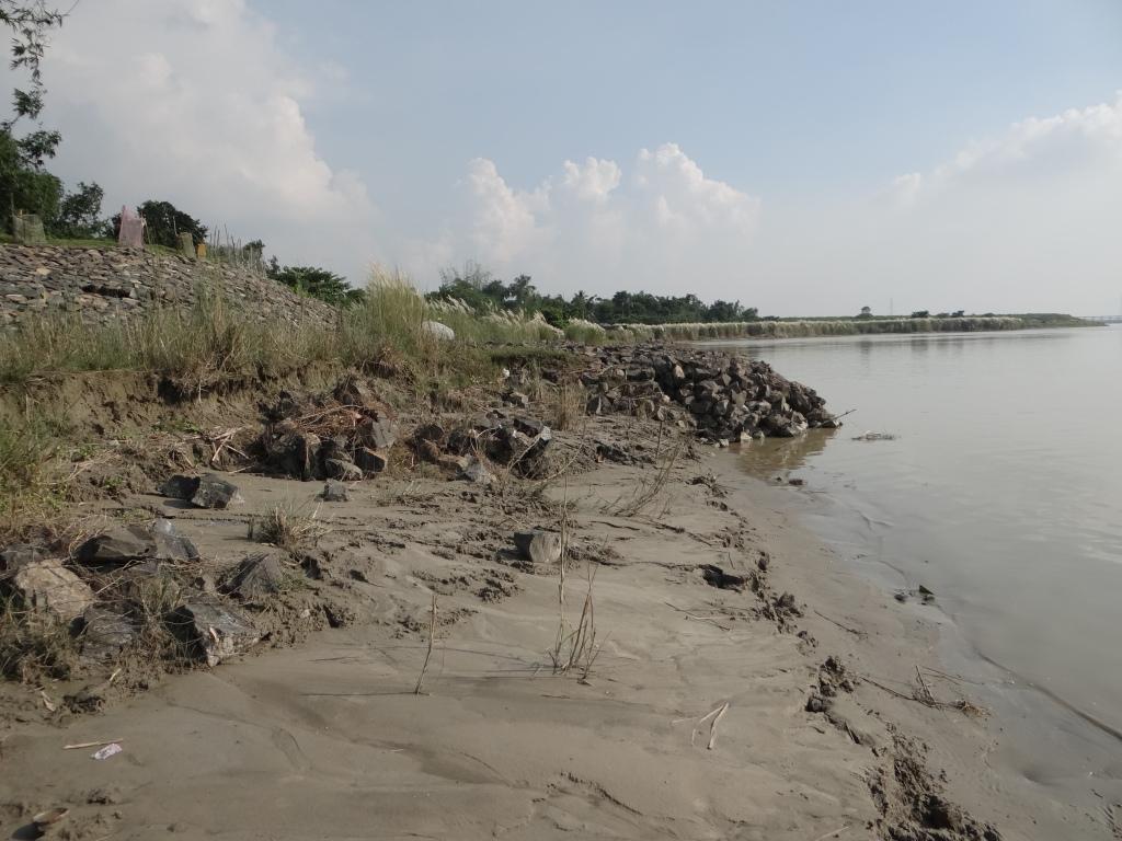 Anti Erosion work destroyed