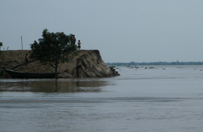 Erosion at Malda upstream Farakka Photo: Soumya Desarkar