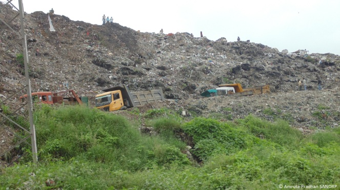 Solid waste dumping site near Vasna Barrage 3