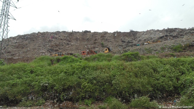 Solid waste dumping site near Vasna Barrage 4