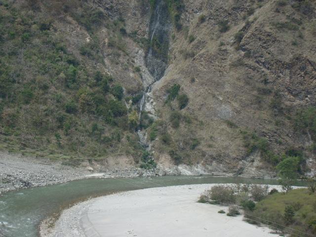 The water fall is as much the Ganga (Photo by Yamuna Jiye Abhiyaan)