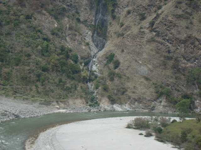 The water fall is as much the Ganga (Photo by Yamuna Jiye Abhiyaan)