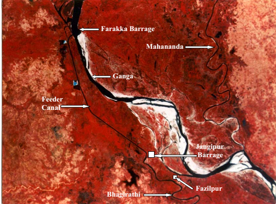 Location of Farakka Barrage  Depiction From : Rudra,