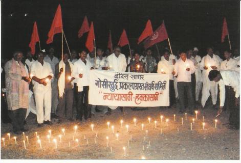 Protest against Gosikhurd dam Photo from sruti.org.in
