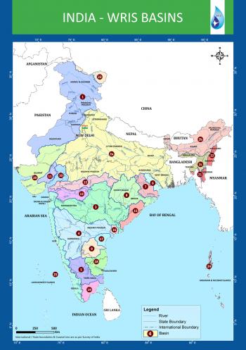 India River Basins Map (Source - WRIS)