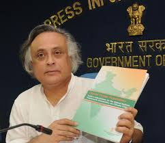 Erstwhile Environment Minister Jairam Ramesh at MoEF Photo from The Hindu
