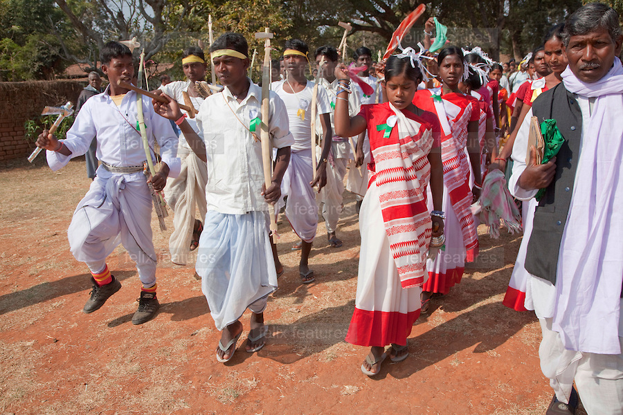 Munda Tribes celebrate Mehla Festival in Tapkara. Photo with thanks from: Felix Featurs/ Panos Features