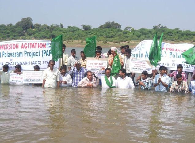 Tribals from Odishna, Andhra and Chattisgarh oppose Polavaram Photo: The Hindu