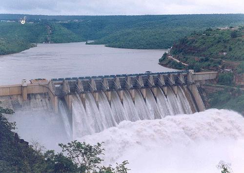 Srisailam Dam on Krishna River (Source: Wikipedia)