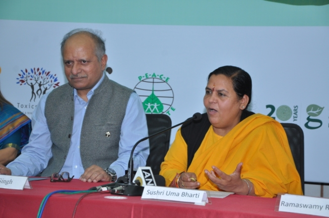 Union Minister Uma Bharti at IRW 271114