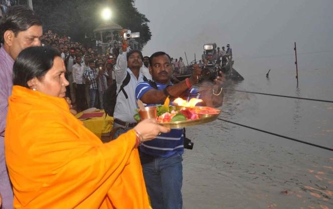 Union Water Resources Minister Sushri Uma Bharti at Ganga