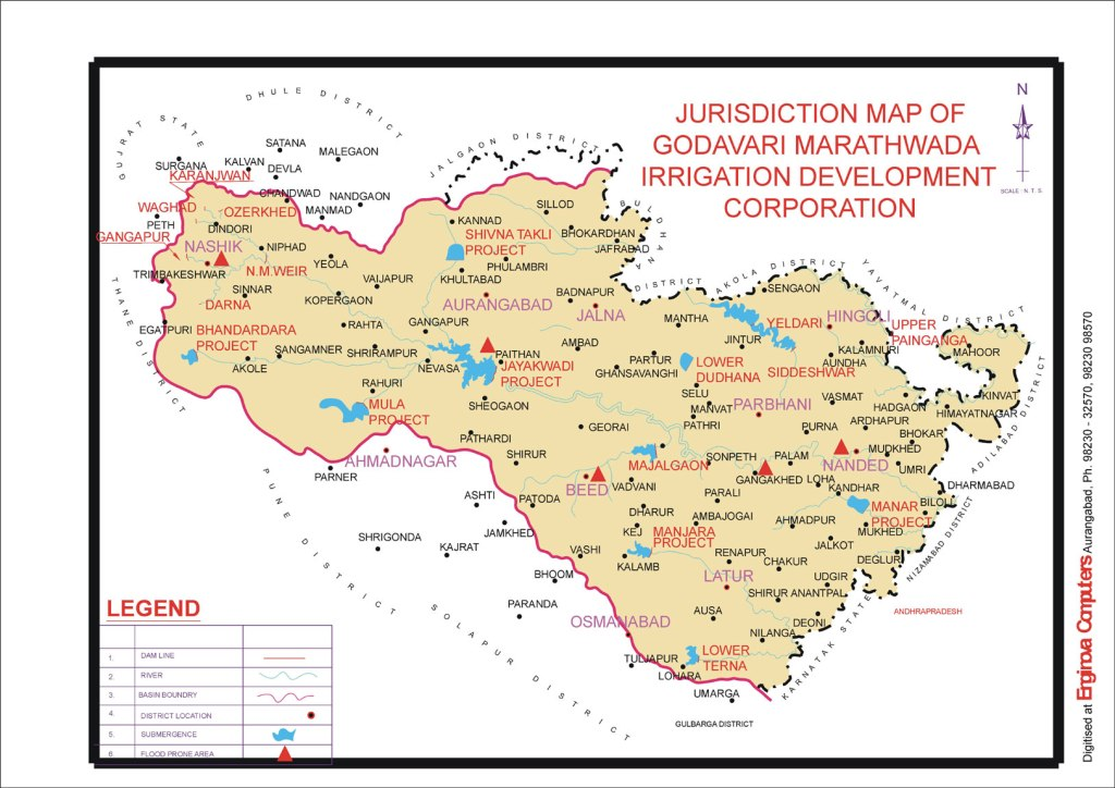 Projects under the jurisdiction of Godavari Marathwada Irrigation Development Corporation