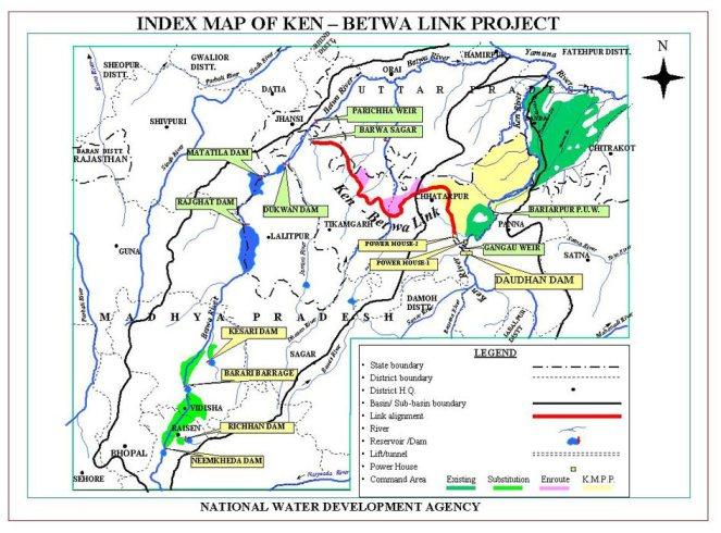 NWDA Index Map of Ken Betwa link proposal