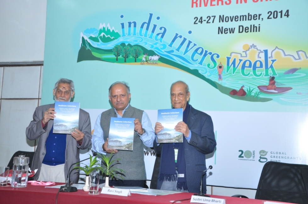 SANDRP Report HEADWATER EXTINCTIONS being released at India Rivers Week on Nov 27, 2014