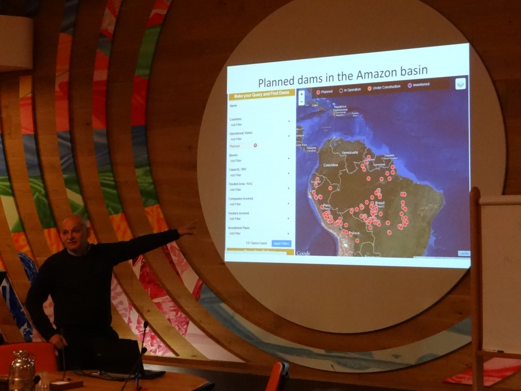 Claudio Baigun, Fisheries Expert from Argentina discussing the impacts of Amazonia dams on Fisheries Photo: SANDRP