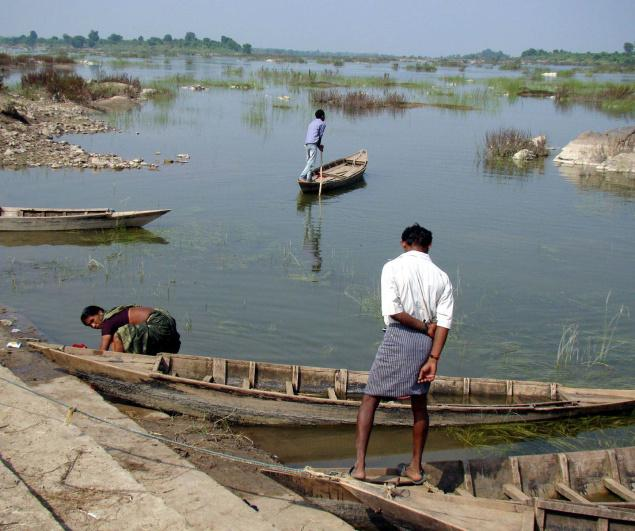 Fisherfolk at the Dam Site in Tummidi Hatti