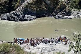 Site of the mishap, just downstream Larji Dam Photo: Dailymail.uk
