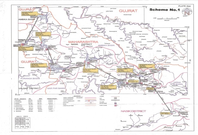 Scheme 1 of the Par-Nar Girna Link by Maharashtra