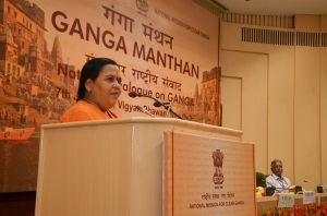 Sushri Uma Bharti at Gnaga Manthan Photo: IB Ministry