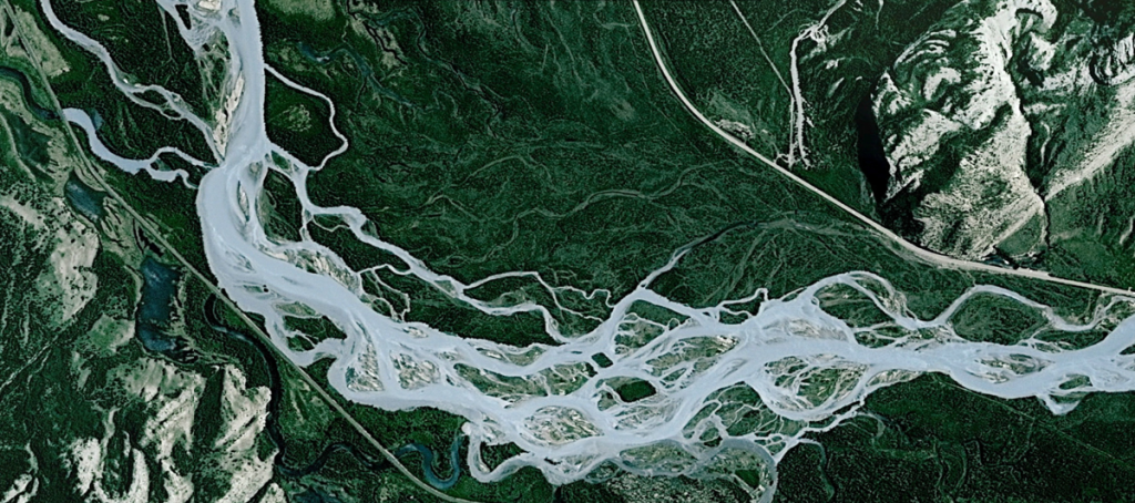 The MuktaVeni/ Cascading Dibang! Image: Google Earth