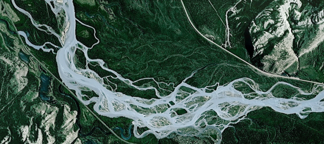 The MuktaVeni/ Cascading Dibang! Image: Google Earth