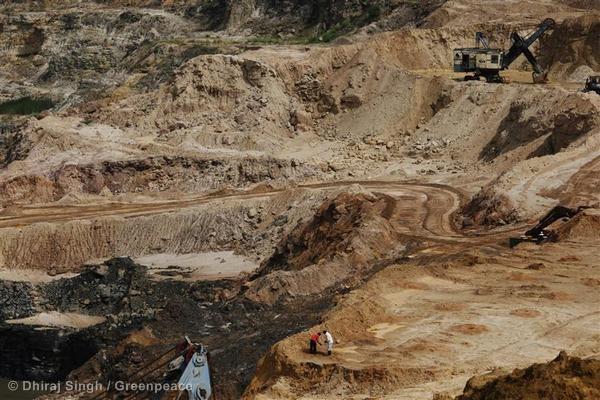 Durgapur Coalmine in Chandrapur Photo: GreenPeace