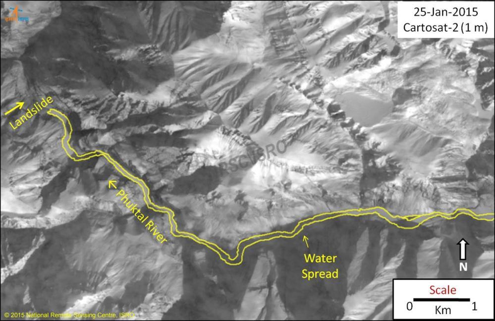 Landslide Dam blocks Zanskar River tributary, threatens Valley (4/5)